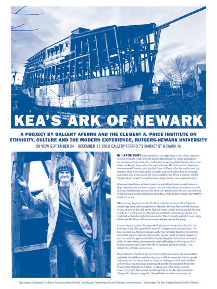 "Aferro Publication No. 27. ""Kea's Ark of Newark"""