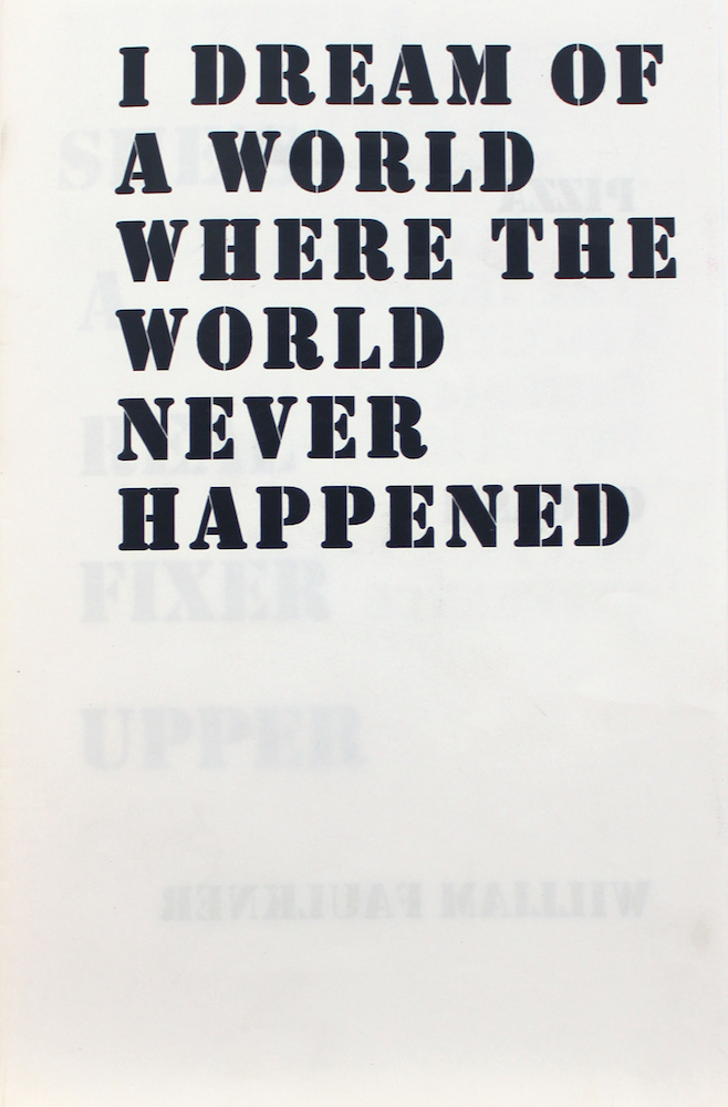 "Aferro Publication No. 3, ""I Dream of a World Where the World Never Happened"""
