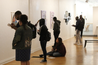 ECC students holding class during PoPWL exhibition 2